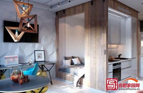 时尚舒适单身公寓 40平温馨小户型设计
