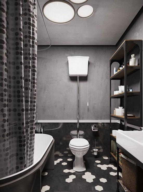 灰色调卫生间装修效果图