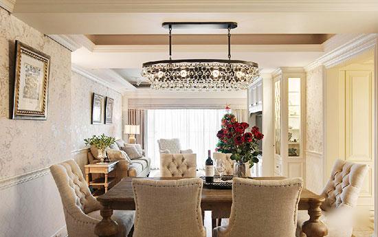 欧式轻奢优雅氛围 古典温婉大户型设计