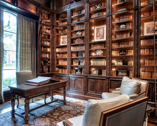 欧式文雅藏书空间 8款别墅古典风书房设计