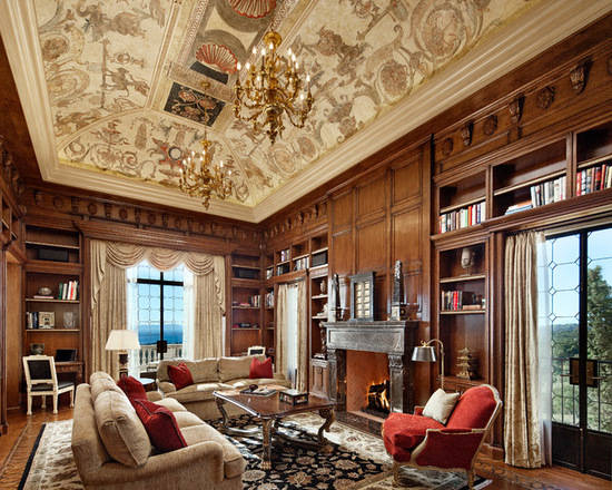 于一体,既是别墅里的小客厅也是休闲又舒朗的小书房