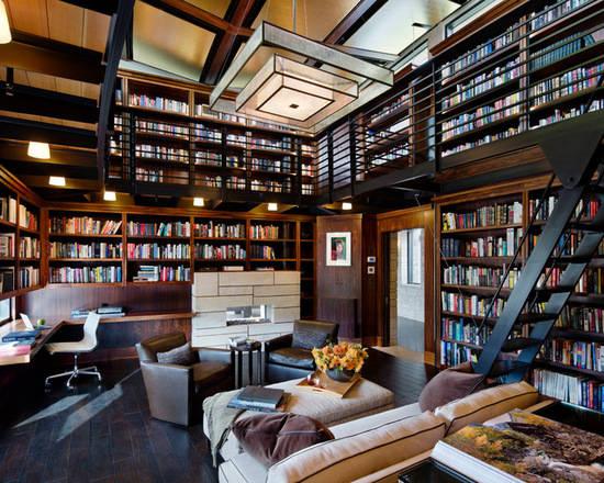 小编搜罗了8款别墅古典风格书房设计