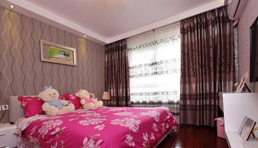 卧室婚房窗帘装修