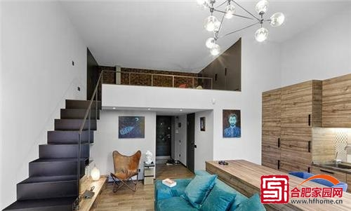 时尚个性小复式 60平单身公寓推荐