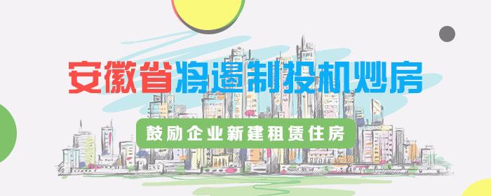 安徽省将遏制投机炒房 鼓励企业新建租赁住房
