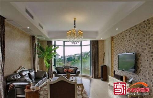 壁挂式的电视机更加时尚,黑色真皮软装沙发是时尚与奢华的象征,搭配上图片