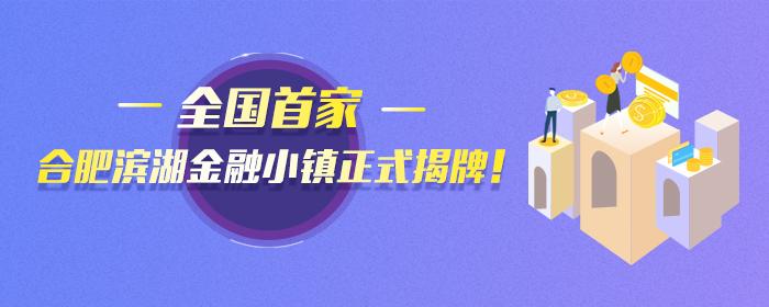 全國首家,合肥濱湖金融小鎮正式揭牌!