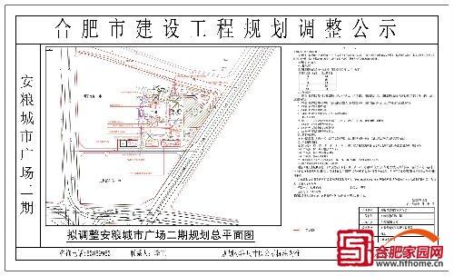 拟调整安粮城市广场二期规划总平面图