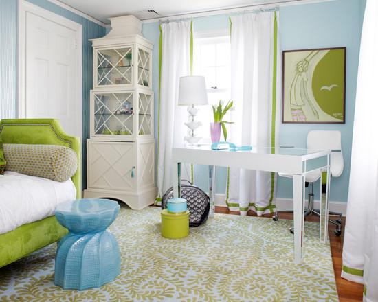 在以白色为基调的房间内,爽朗清新,适合女孩子的文艺小清新.