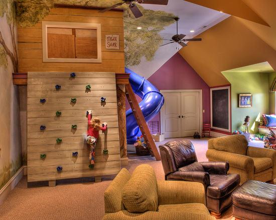 个性独特儿童房 10款不规则阁楼卧室设计