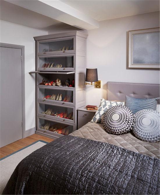 臥室小床頭打柜子圖片